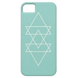 Geometric Modern Light Teal Blue Minimal Triangle iPhone 5 Case