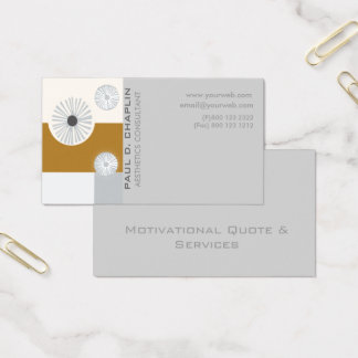 Geometric Modern Professional Minimal Consultant Business Card