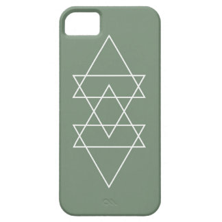 Geometric Modern Sage Green Minimal Triangle Art iPhone 5 Cases