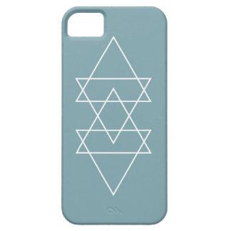 Geometric Modern Slate Blue Minimal Triangle Art iPhone 5 Covers