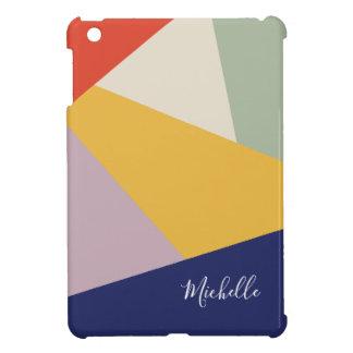 Geometric Modern Triangles Pattern | Personalized iPad Mini Cover