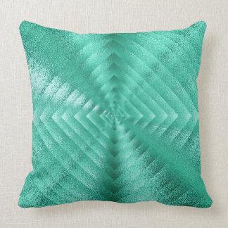 Geometric Monochromatic Glass Mint Green Tiffany Cushion