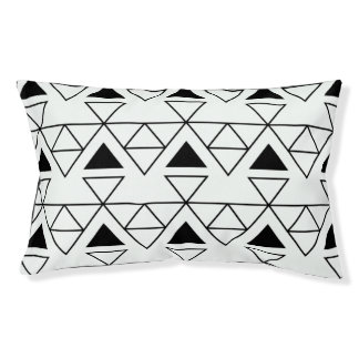 Geometric Monochrome Dog Bed