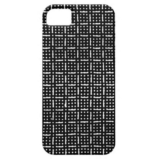 GEOMETRIC MONOCHROME GRID iPhone 5 CASE