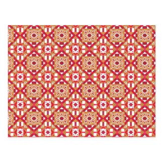 Geometric Moroccan Watercolor Seamless Pattern 1 Postcard