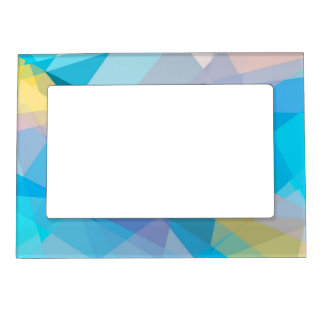 Geometric Mosaic Abstract #15 Magnetic Photo Frame