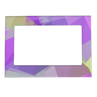 Geometric Mosaic Abstract #28 Magnetic Picture Frames