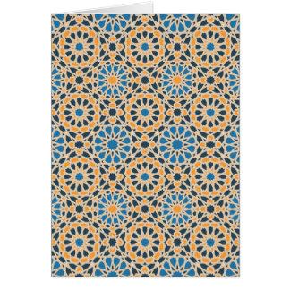 Geometric Mosaic Pattern Card