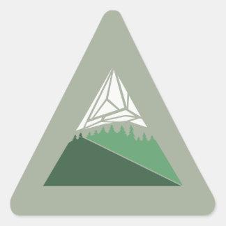 Geometric Mountain Art Sticker