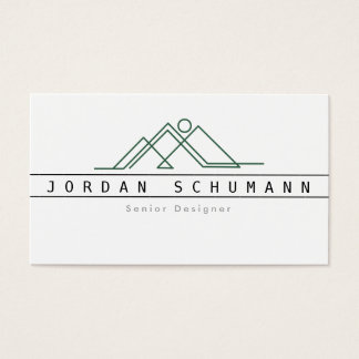 Geometric Mountain Logo | Custom Business Business Card