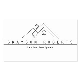 Geometric Mountain Logo | Custom Business Pack Of Standard Business Cards