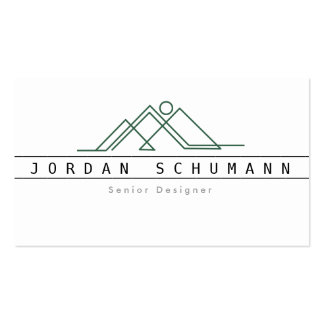 Geometric Mountain Logo | Custom Business Pack Of Standard Business Cards