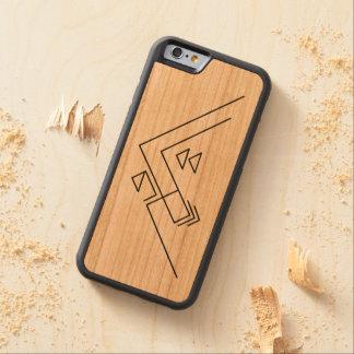 Geometric Mountain | Modern | Custom Carved Cherry iPhone 6 Bumper Case