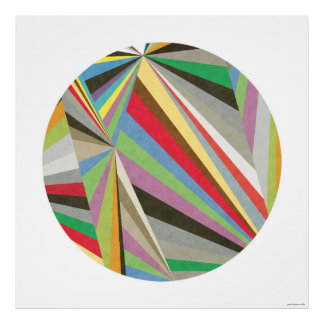 Geometric Multi Coloured Art Print I