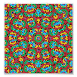 Geometric Multicolored Print