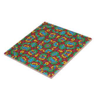 Geometric Multicolored Print Ceramic Tile