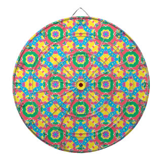 Geometric Multicolored Print Dartboard