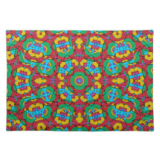 Geometric Multicolored Print Placemat