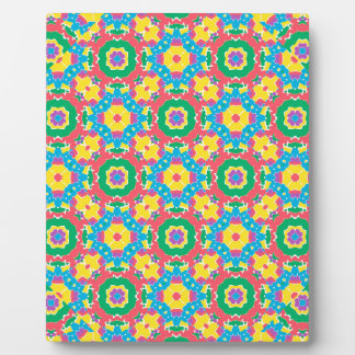 Geometric Multicolored Print Plaque