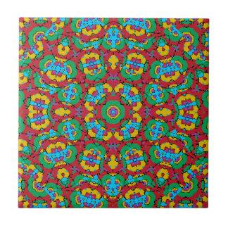 Geometric Multicolored Print Tile