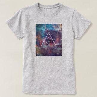 Geometric New Age Om Galaxy Art T-Shirt