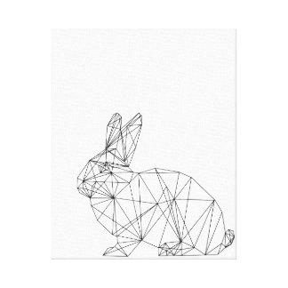 Geometric Nursery Rabbit Design Canvas Minimal Art Canvas Print