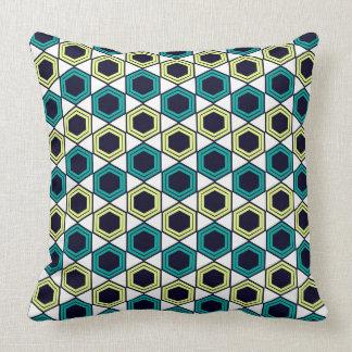 Geometric Octagon Pattern White Cushion