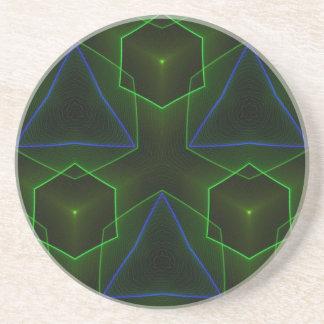 Geometric Octogon Pattern Beverage Coasters