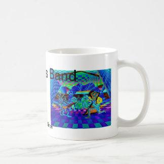 Geometric Op Art Blue Techies Band Musicians Gifts Basic White Mug