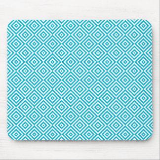 Geometric Optical Illusion Pattern Aqua Mouse Pad
