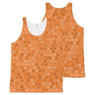 Geometric Orange Polka Dot Design All-Over Print Tank Top