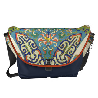 Geometric Oriental Design Commuter Bag