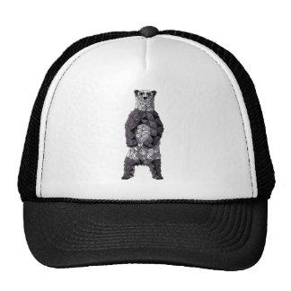Geometric Panda Bear Cap