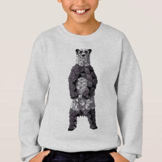 Geometric Panda Bear Sweatshirt