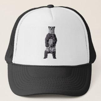Geometric Panda Bear Trucker Hat