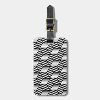 Geometric pattern art design luggage tag