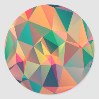Geometric Pattern Classic Round Sticker