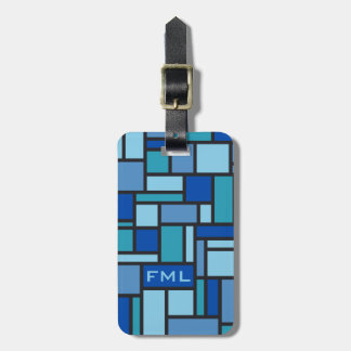 Geometric Pattern custom luggage tag