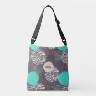 Geometric Pattern custom monogram bags