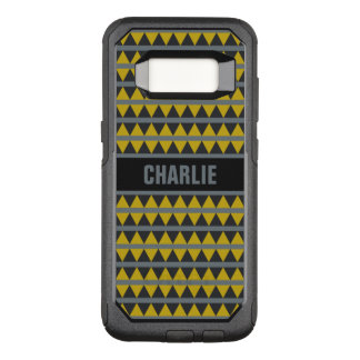 Geometric pattern custom name phone cases