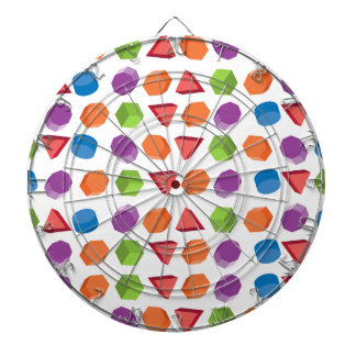 Geometric pattern dartboard
