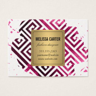 Geometric Pattern / Expressive Business Card