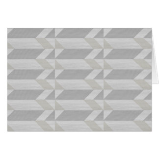 geometric pattern gray wood greeting card