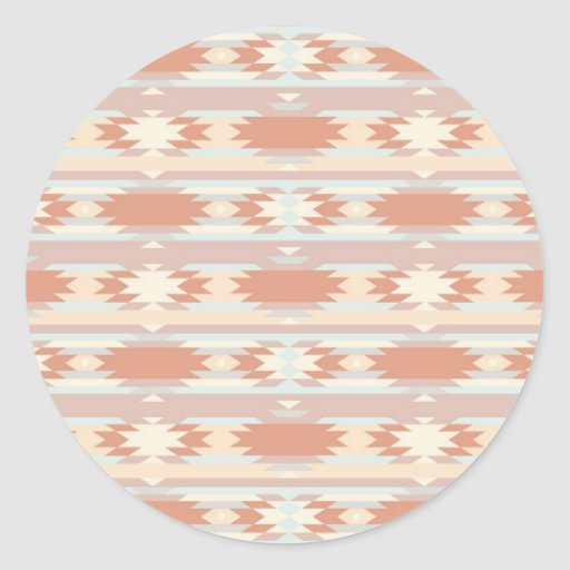 Geometric pattern in aztec style 3 stickers