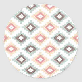 Geometric pattern in aztec style stickers
