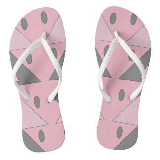 Geometric Pattern Light Soft Pink Gray Funny Thongs