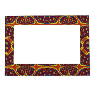 Geometric pattern magnetic picture frame