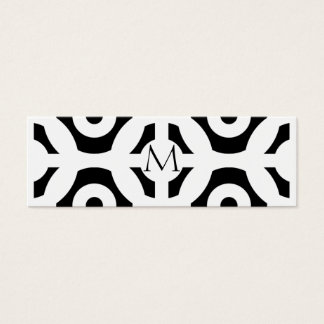 Geometric Pattern Mini Business Card