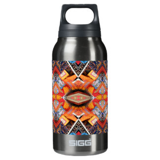 Geometric pattern Oranges Insulated Water Bottle