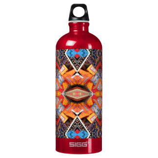 Geometric pattern Oranges Water Bottle